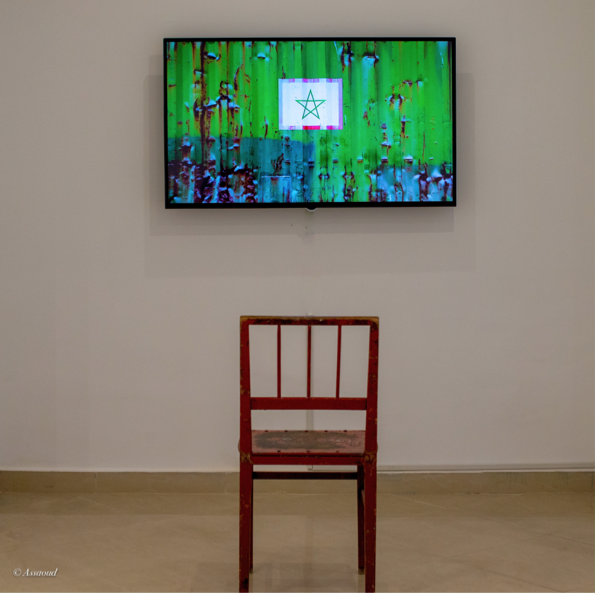 منير الفاطمي،فيديو ارت ،مقدم داخل رواق كنت ، تصوير  © عزيز اسعود